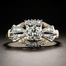 antique diamond engagement rings 34 carat two tone vintage diamond engagement ring