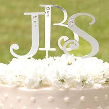 swarovski monogram cake topper wedding cake toppers wedding