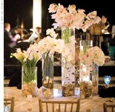 Vases With Flowers And Floating Candles Diy Project Submerged Underwater Flower Centerpieces Instructions