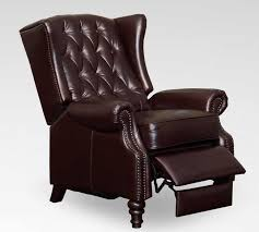 Wingback Chair Recliner Design Ideas Lazzaro C9016 15 Tufted Wing Back Recliner In Vintage Cranberry
