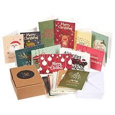 bulk christmas cards 36 pack merry christmas greeting cards bulk box set