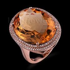 citrine engagement rings aliexpress buy new oval 18x23mm 14kt gold diamond