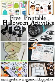 Printable Halloween Bingo by Musings Of An Average Mom 31 Days Of Halloween Activities