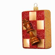ornaments to remember chess board ornament