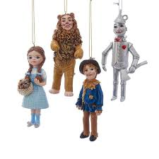 kurt adler 6 in wonderful wizard of oz ornament set of 4 c7958