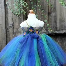 custom made peacock flower dress peacock theme wedding