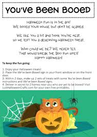 Halloween Fun Printables Free Printable You U0027ve Been Booed Poem Sign