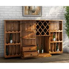 Bar Hutch Natural Solid Rosewood Traditional Hideaway Wine Bar Cabinet