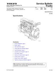 volvo d12d especificacion cylinder engine gear