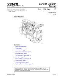 volvo d12d especificacion cylinder engine gear