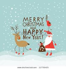 new year card greeting christmas new year card stock vector 117752425