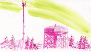 maple leaf water tower urban sketchers