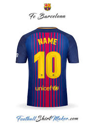 Baju Jersi Nike create fc barcelona soccer jersey with your name and number