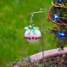 a merry with these diy miniature tree decorations