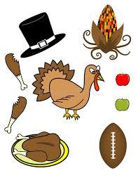 thanksgiving theme vector clip stock vector illustration of