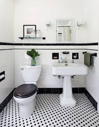 Navy And White Bathroom Ideas - black and white powder room decorpad com approx black tiling on