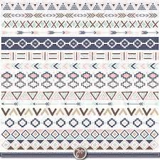 aztec ribbon tribal border set aztec borders clipart aztec