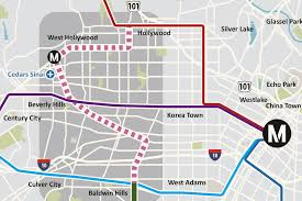 Metro Line Map by West Hollywood Refusing To Let Metro Rail Pass It By Curbed La