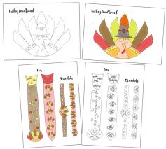 turkey headband free printable turkey headband ties and bracelets craft