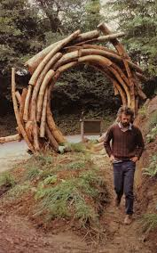 outdoor wood log portal and awesome idea imagine finding a