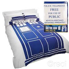 Dr Who Duvet Who Tardis Duvet U0026 Pillow Cover Set Double