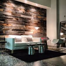 interior cool living room decoration with dark brown horizontal