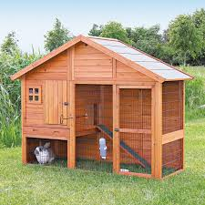 Rabbit Hutch Instructions Trixie 2 Story Rabbit Hutch With Attic Extra Large Hayneedle