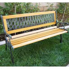 Bench Love Belleze Outdoor Patio Garden Park Bench Love Seat 50