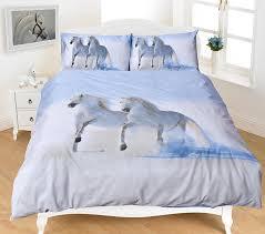 Single Bed Linen Sets 3d Animal Print Bedding Sets Horse Polycotton Quilt Duvet Covers