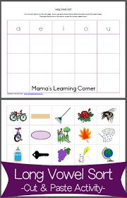 long vowel sort cut u0026 paste activity mamas learning corner