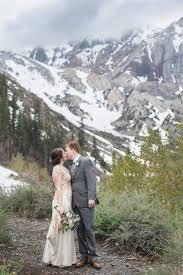 mountain wedding this snowy mountain wedding features a must see pink and white gown