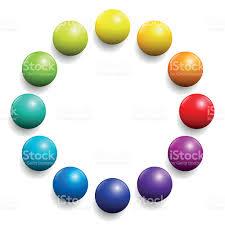 Color Spectrum Color Spectrum Twelve Rainbow Balls Stock Vector Art 494446148