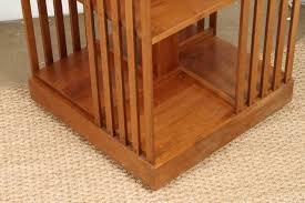 Oak Revolving Bookcase Signed Stickley Revolving Bookcase At 1stdibs