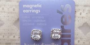 claires clip on earrings magnetic earrings from s