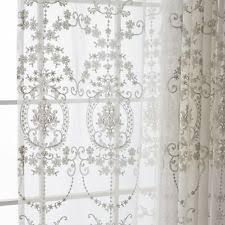 Cream Lace Net Curtains Crochet Curtains Ebay