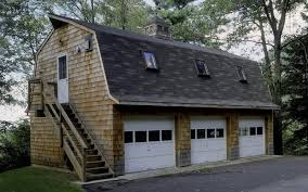 3 Car Garage Plans With Apartment Above 24 U0027 X 36 U0027 Gambrel 3 Bay Garage With An Efficiency Apartment Above