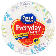 paper plates great value everyday premium paper plates 8 5 8 45 count