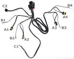 hid conversion kit dual relay wiring harness for h4 h13 9004