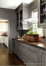 light grey kitchen cabinets with wood countertops sweetie pie style monday morning p inspirations kitchen