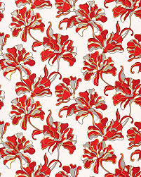 grey wallpaper with red flowers edem 072 26 wallpaper floral design flowers grey red white 5 33