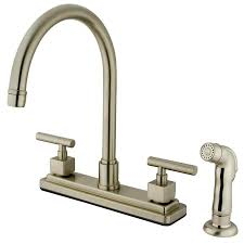 Satin Nickel Kitchen Faucet by 4 Hole Kitchen Faucets Get A Four Hole Kitchen Sink Faucet