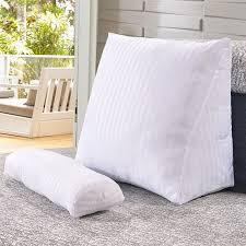 cuscino per leggere a letto shop sunnyrain biancheria di cotone triangolare schienale