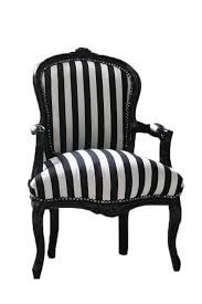 Striped Accent Chair Vintage French Chair Black And White Stripe Customizable