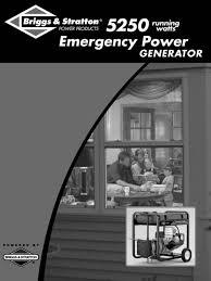 briggs u0026 stratton portable generator 01971 user guide