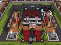 Sims Freeplay House Floor Plans House 102 Cinema Ground Level Sims Simsfreeplay Simshousedesign