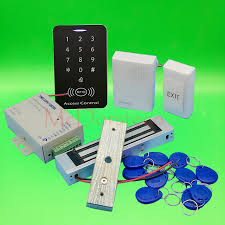 diy full 125khz rfid access control system kit 350lbs electric magnetic lock power supply
