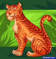 learn how to draw a tiger for kids big cats step by step drawing