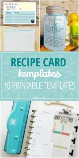 10 printable recipe card templates free tip junkie