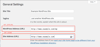 wordpress changing the site url and home settings inmotion hosting