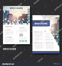 modern brochure template design city landscape stock vector